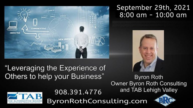 September 2021 Peer Advisory Board Event Byron Roth Consulting - TAB